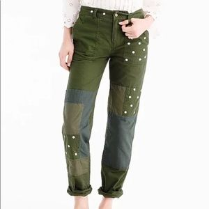 J. Crew ▪ Green Chinos with Flowers